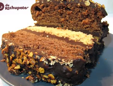 Bizcocho bicolor con chocolate
