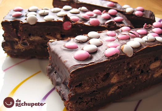 Receta de Brownie de lacasitos y galleta