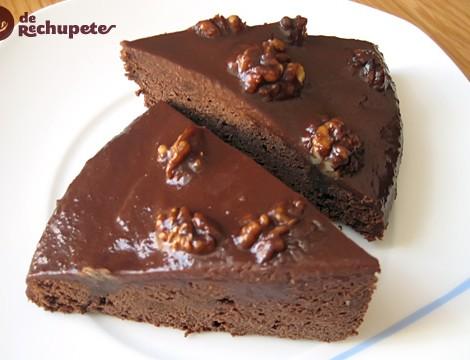Brownies de chocolate con naranja