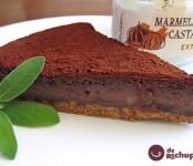 Receta de tarta de castañas y chocolate