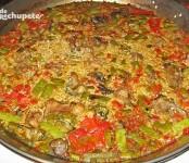Receta de Paella mixta de conejo y pollo