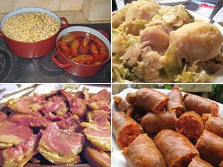 Elementos del cocido gallego