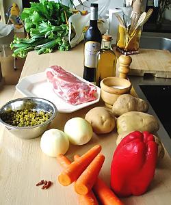 Ingredientes para el xarrete