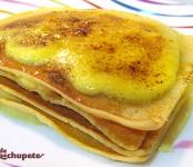 Receta de Milhojas de filloas y crema catalana