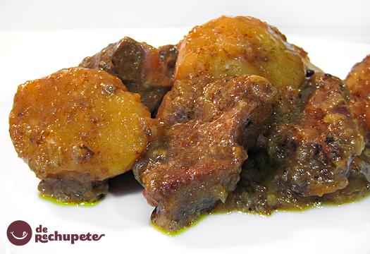 Receta de Guiso de ternera con patatas