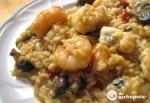 Receta de arroz caldoso con rape y langostinos