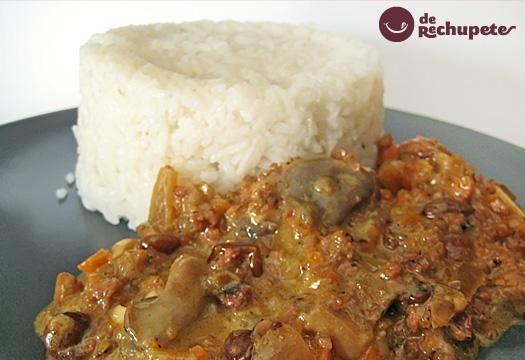 Receta de arroz basmati con jamón y setas