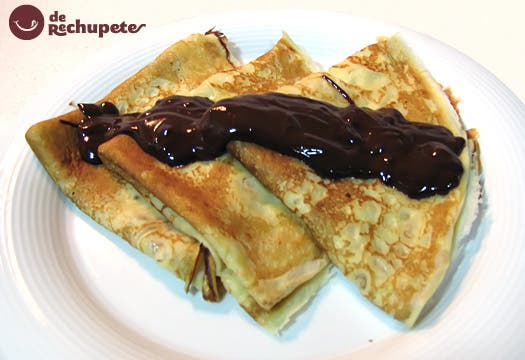 Receta de filloas con chocolate