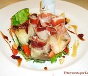 Receta de ensalada de jamón ibéricon con melón