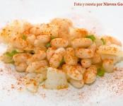 Receta de ensalada de alubias con bacalao