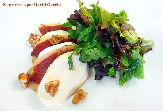 Receta de ensalada de mozzarella con pez espada
