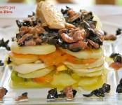 Receta de ensalada de patatas y sabores de mar