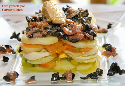 Ensalada de patatas y sabores del mar