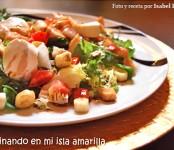 Receta de ensalada templada de pollo y bacon