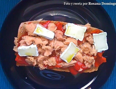 Ensaladillo (Ensalada + Bocadillo) de pimientos y atún