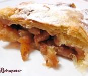 Receta de strudel de manzana con nueces y piñones
