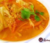 Receta de sopa de verduras en juliana