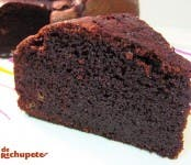 Receta de browny de chocolate y plátano