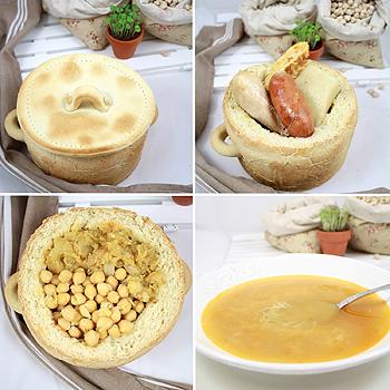 Cocido maragato en olla de pan - Cocido de garbanzos en olla express ...