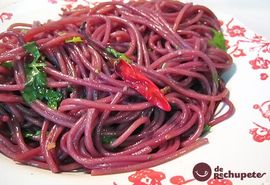 Espaguetis borrachos en vino (Spaghetti dell'Ubriacone)