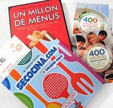 Libros: Se cocina.com, 400 recetas y Un millón de menús