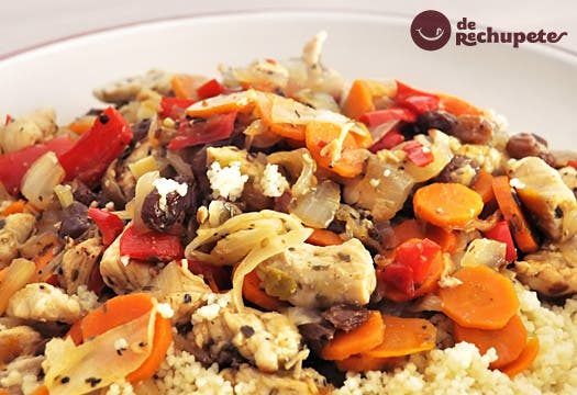Receta de cuscus con pollo y verduras