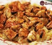 Receta de mejillones con salsa de ribeiro