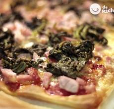 Receta de pizza de laocn con grelos
