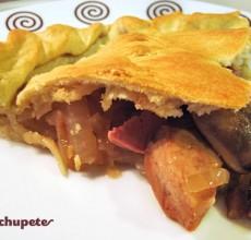 Empanada gallega de pollo y mousse de foie. Receta paso a paso