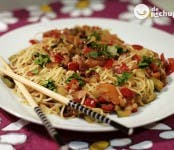 Receta de fideos chinos con verduras