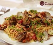 Receta de espaguetis con almejas