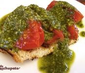 Receta de tomates asados con pesto