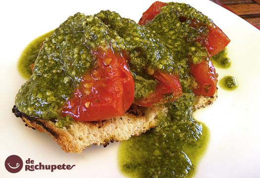 Tomates Asados Con Salsa De Pesto Verde Receta Italiana