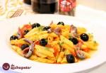 Receta de macarrones con aceitunas y anchoas