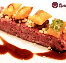 Steak Tartar. Receta versionada del chef Joan Roca