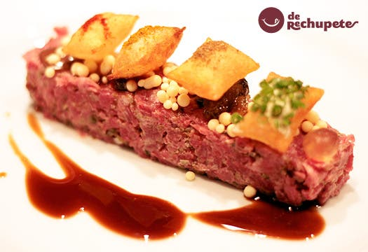 Steak Tartar. Receta versionada del chef Joan Roca