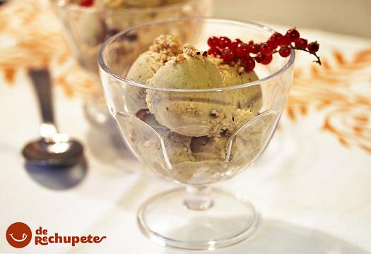 Receta de helado de avellanas
