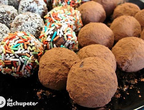 Trufas fáciles y bombones de chocolate
