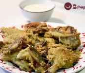 Receta de setas en tempura