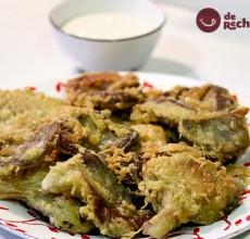 Setas en tempura con salsa Alioli
