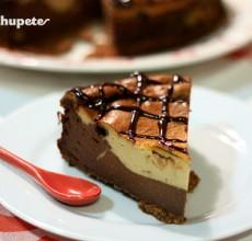 Tarta de chocolate y turrón