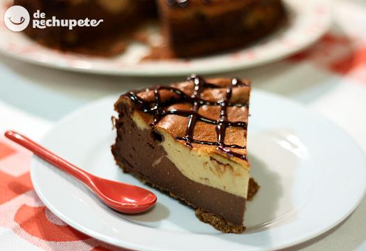 Receta de tarta de turrón y chocolate