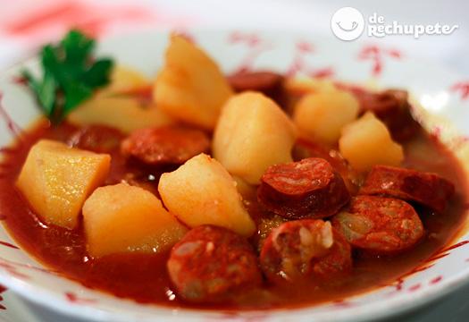 Patatas a la riojana - Judias con chorizo y patatas ...