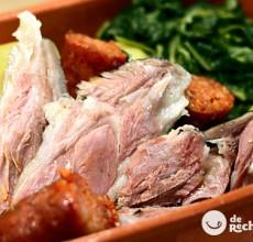 Lacón con grelos. Receta tradicional galega