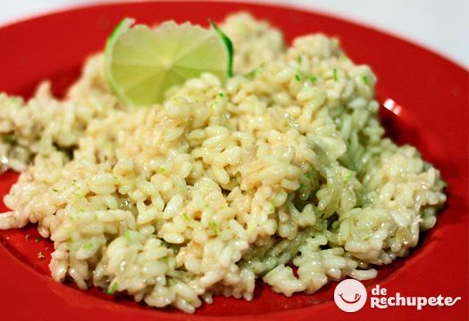 Receta de risotto con parmesano y limón