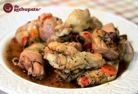 Estofado de pollo en salsa