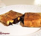 Receta de crepes con chocolate y plátano