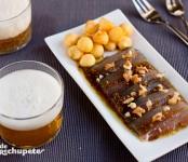 Receta de sardinas con vinagreta de nueces