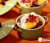 Receta de cazuelita de arroz y huevos de codorniz