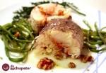 Receta de merluza rellena de salmón y nueces